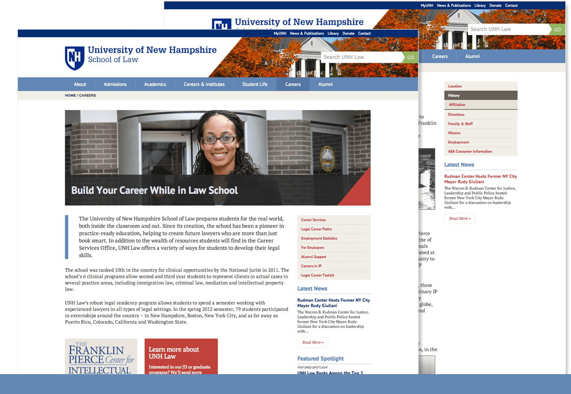 Online Presence Development - UNH Law