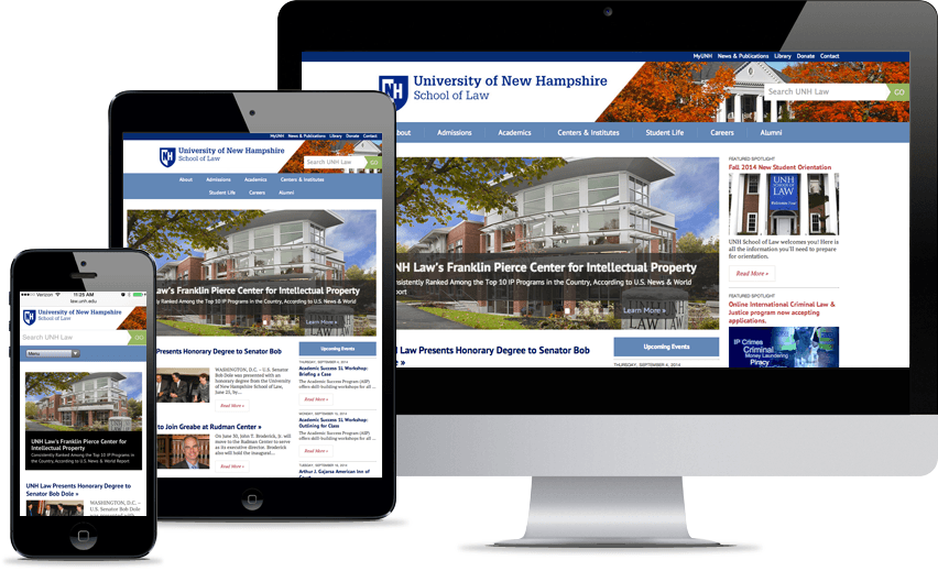 Responsive Design & Development - UNH Law