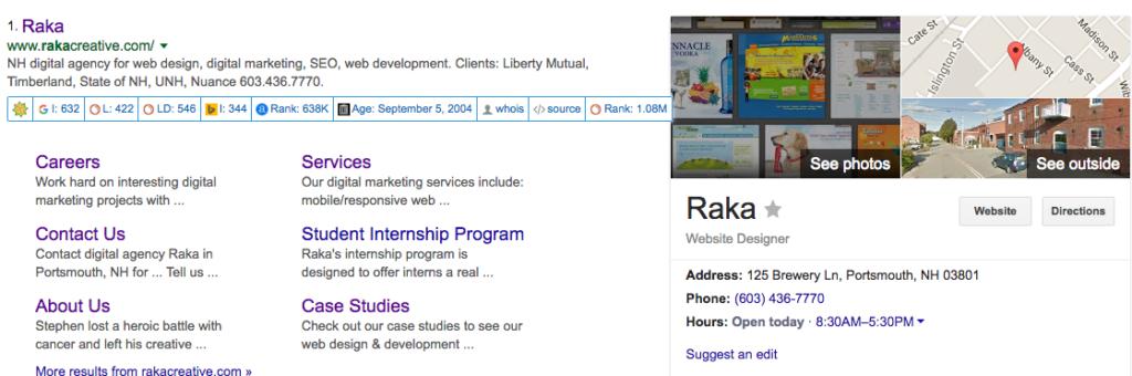 Raka Google Search