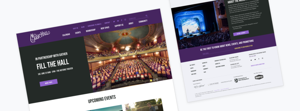 Music Hall website launch