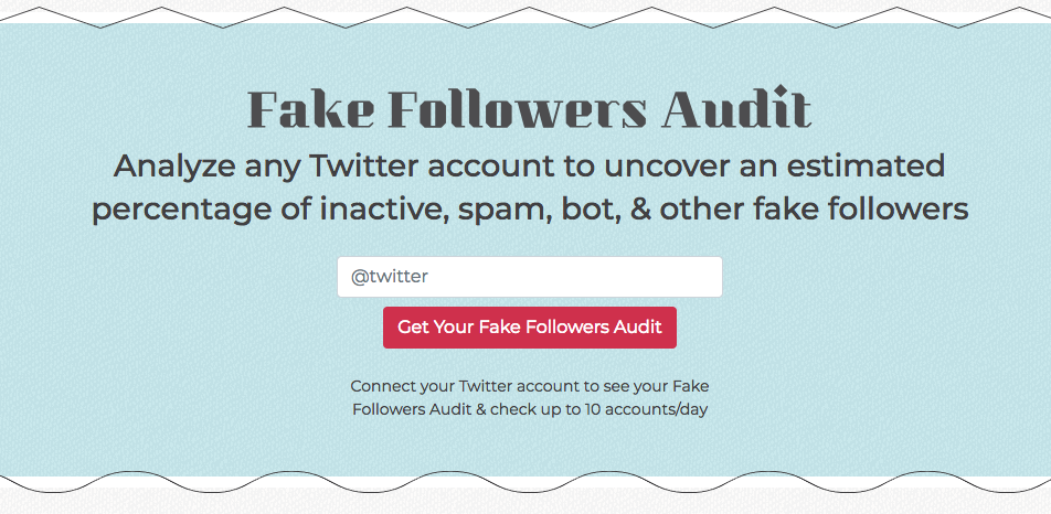 SparkToro Fake Followers Audit