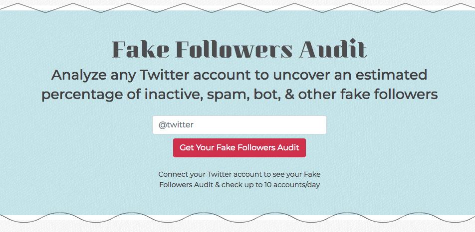 SparkToro Fake Followers Audit