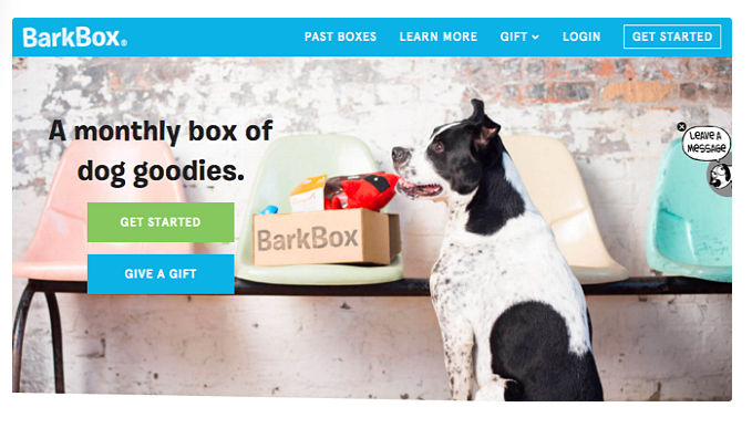 bark box home page cta