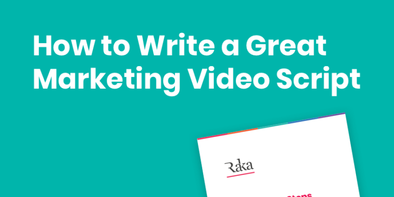 how to write a great marketing video script