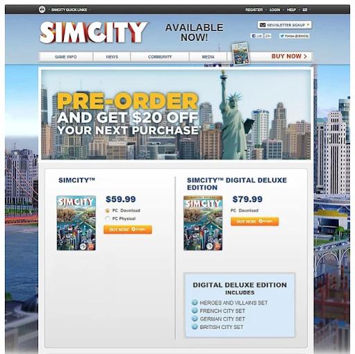 sim city ad ab testing