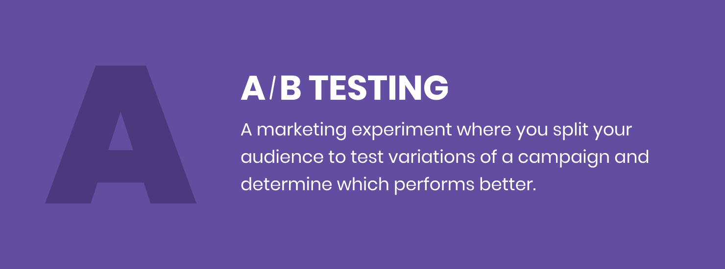 inboun marketing definitions a/b testing