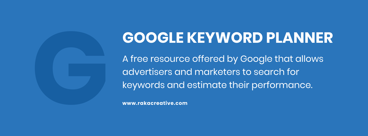 Google Keyword Planner helps with SEO