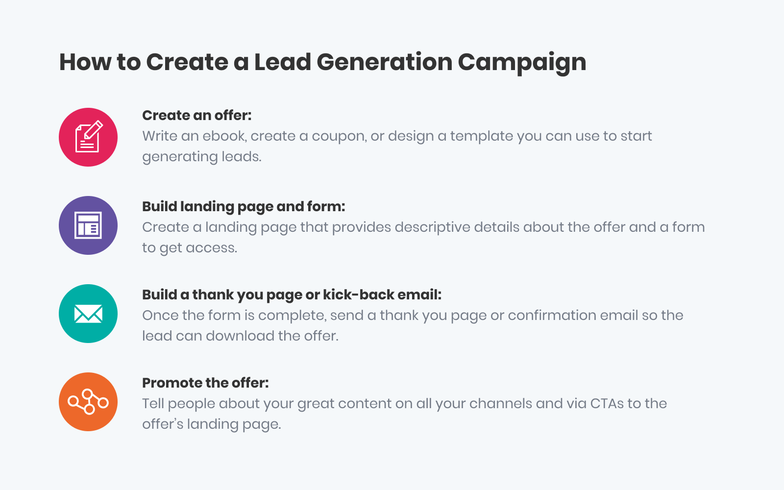 how to create a lead generation campaign