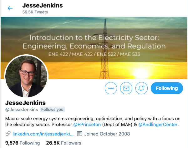 Key Opinion Leader Twitter Influencer Jesse Jenkins