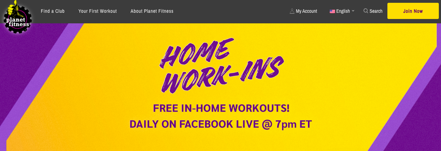Planet Fitness COVID-19 response home workouts