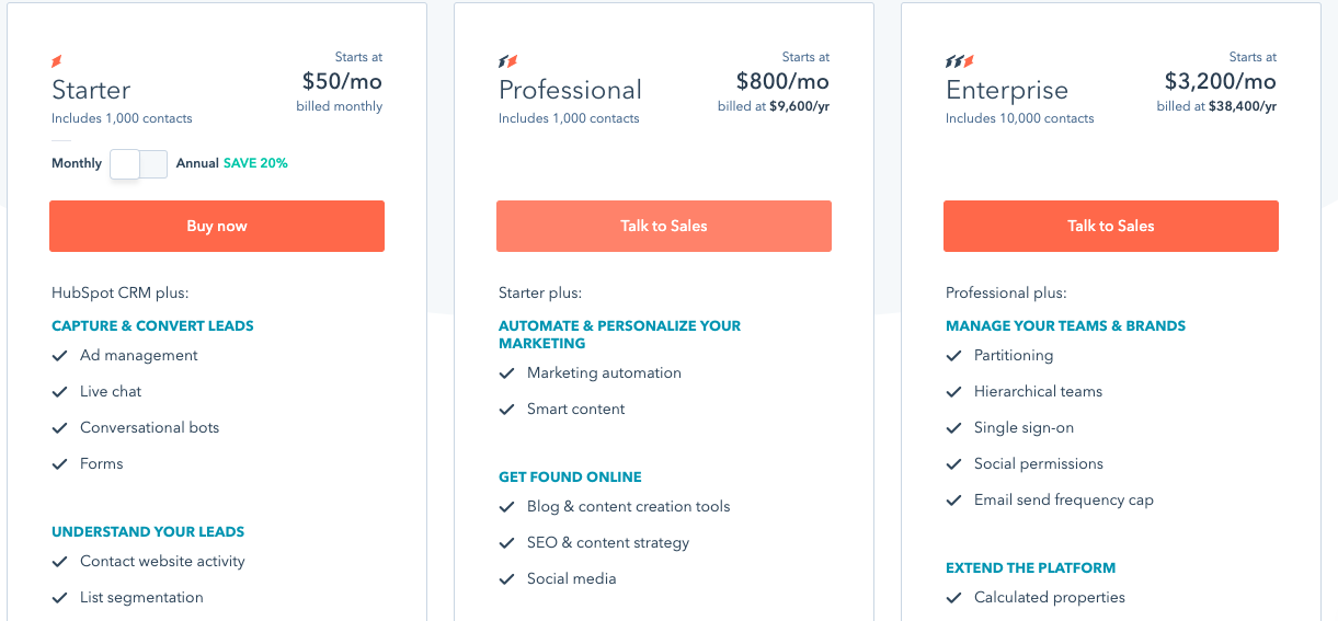 HubSpot Starter, Professional, or Enterprise