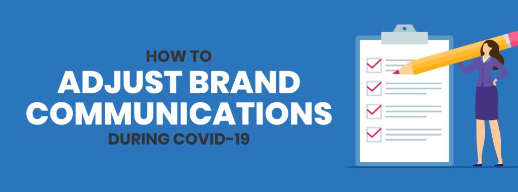 brand communications during coronavirus