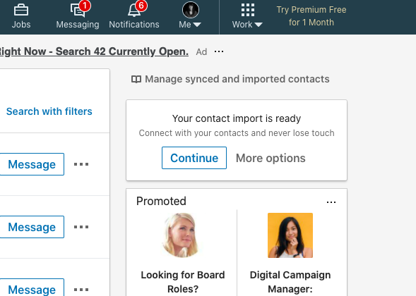 how to import contacts into linkedin