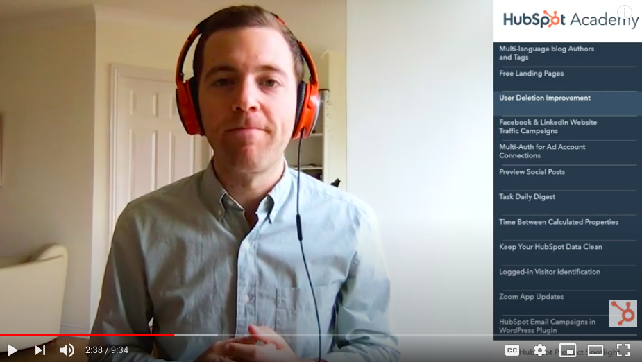 man with headphones giving video tutorial