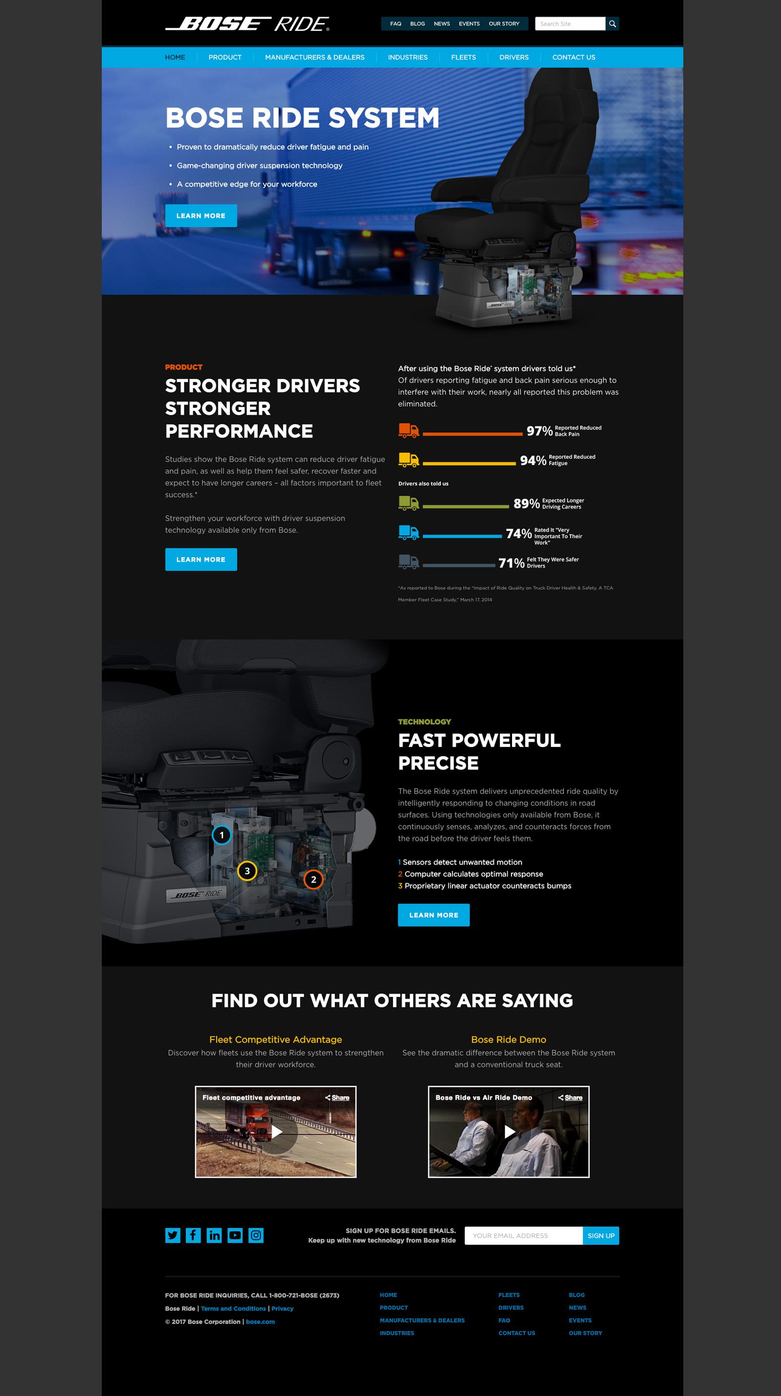 Bose Ride product marketing