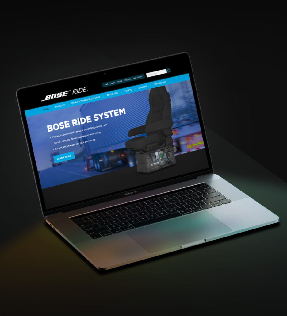 bose homepage design product marketing